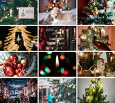 Cadeautip! | Luxe ansichtkaarten set Kerst 10x15 cm | 24 stuks | Wenskaarten Kerst