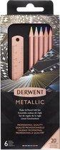 Derwent - Limited Edition - 6 Metallic kleurpotloden - Gift Set - Koperen Liniaal.