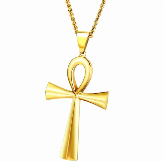 Ankh Symbool Hanger inclusief ketting|Ketting Dames|Ketting Heren|Egyptisch|Cabantis|Goud Kleurig