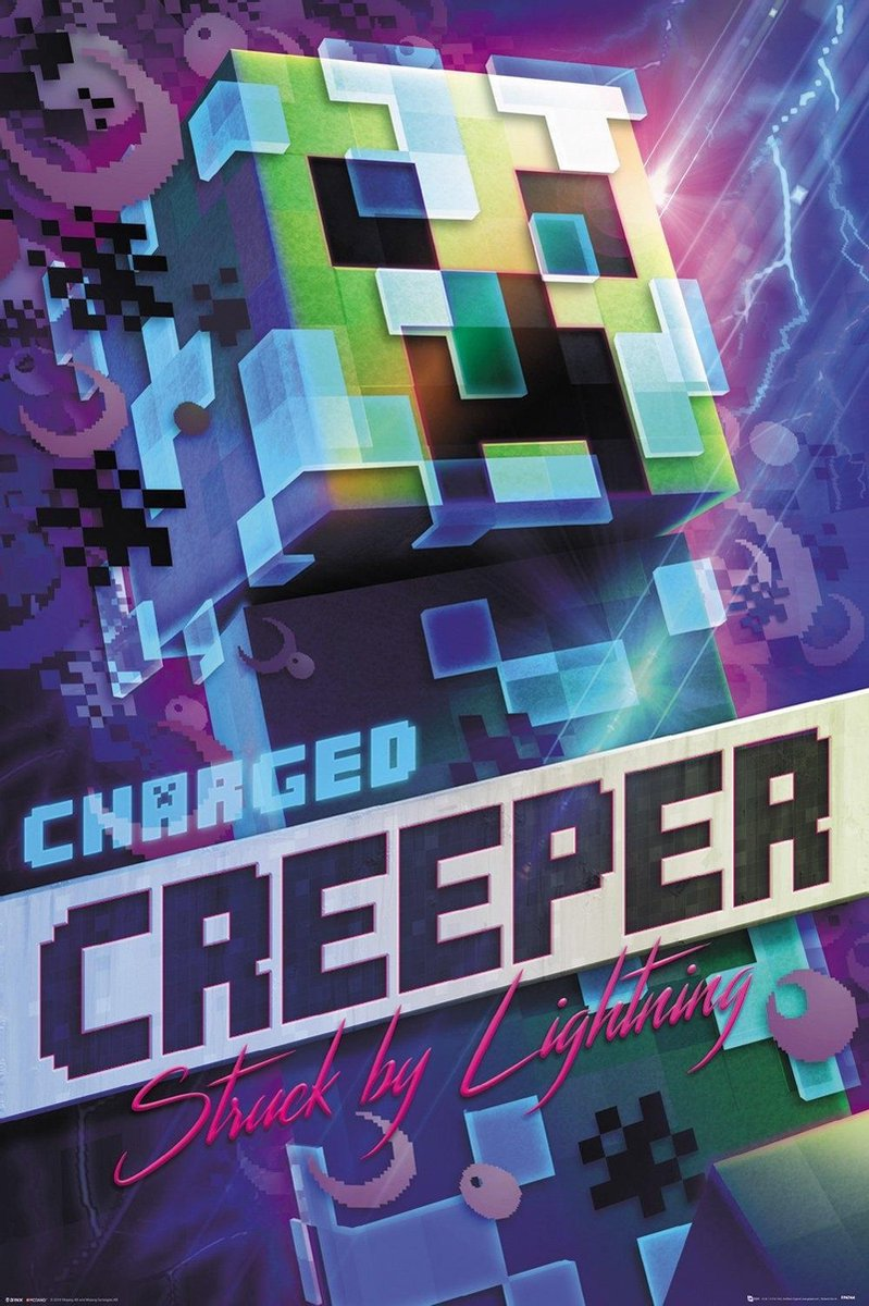 Minecraft - Poster 61X91 - Charged Creeper