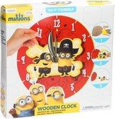 Despicable Me Minions Maak je eigen Houten Klok Knutsel set voor Kinderen – 30x30x5cm | Wandklok Maken | Knutselen voor Kinderen vanaf 4 Jaar
