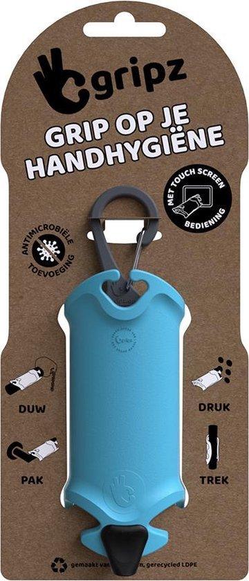 Gripz, handhygiëne, schone handen, geen mondkapje maar handkapje blauw 311