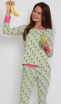 Happy Pyjama's   aardbeien, kersen en meloen prints   pyjama dames volwassenen  heerlijk katoen    maat: XL