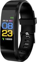 SmartWatch PRO Zwart | Nieuw model | Activity Tracker | Smartband | Alternatief Fitbit |Slaapmonitor