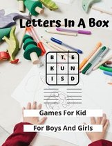 Letters In A Box - Games For Kids - For Boys and Girls