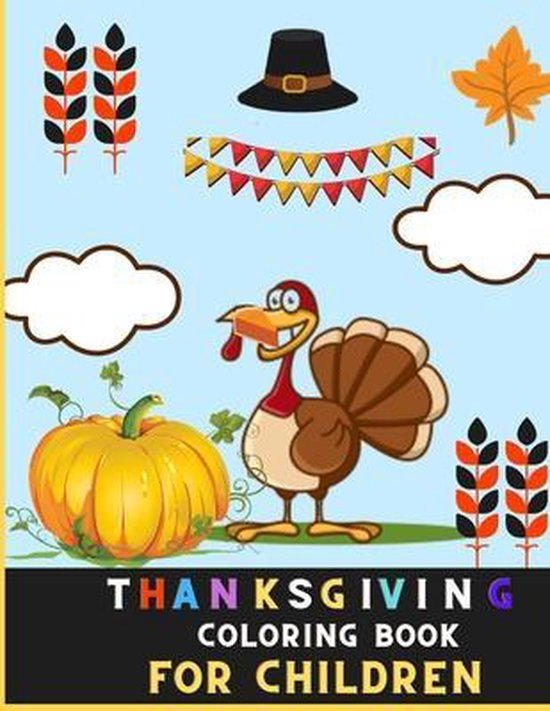 Thanksgiving coloring book for children