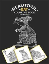 Beautiful Rat Coloring Book for adults
