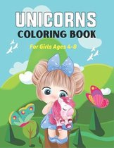 Unicorns Coloring Book for Girls Ages 4-8
