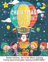 Christmas Activity Book For Kids Ages 3-6