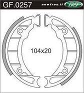 Remsegmentset Newfren GF0257 Piaggio Zip Voor