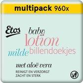 Etos Baby Lotion Milde Billendoekjes - 960 stuks (12 x 80 stuks)
