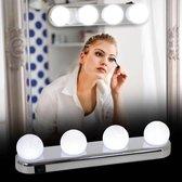 Make up Spiegelverlichting - led lampen batterij - make up spiegel led - spiegellamp met zuignap