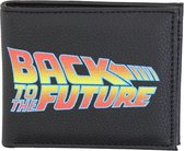 Universal Back To The Future Bifold Wallet Portemonnee Zwart