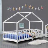 Kinderbed Treviolo met uitvalbeveiliging 90x200 cm wit mat