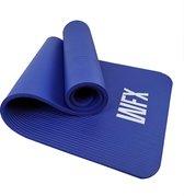 #DoYourFitness - Extra dikke fitness mat - »Jivan« - duurzaam, non-slip, huidvriendelijk, slijtvast - 183 x 61 x 2,0 cm - marineblauw