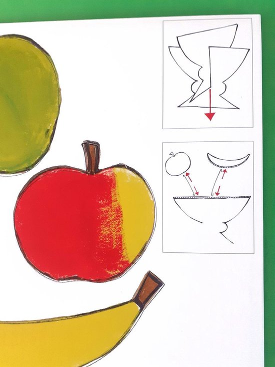 Kartonnen vaas en fruitschaal - Hanneke de Jager - Multikleur