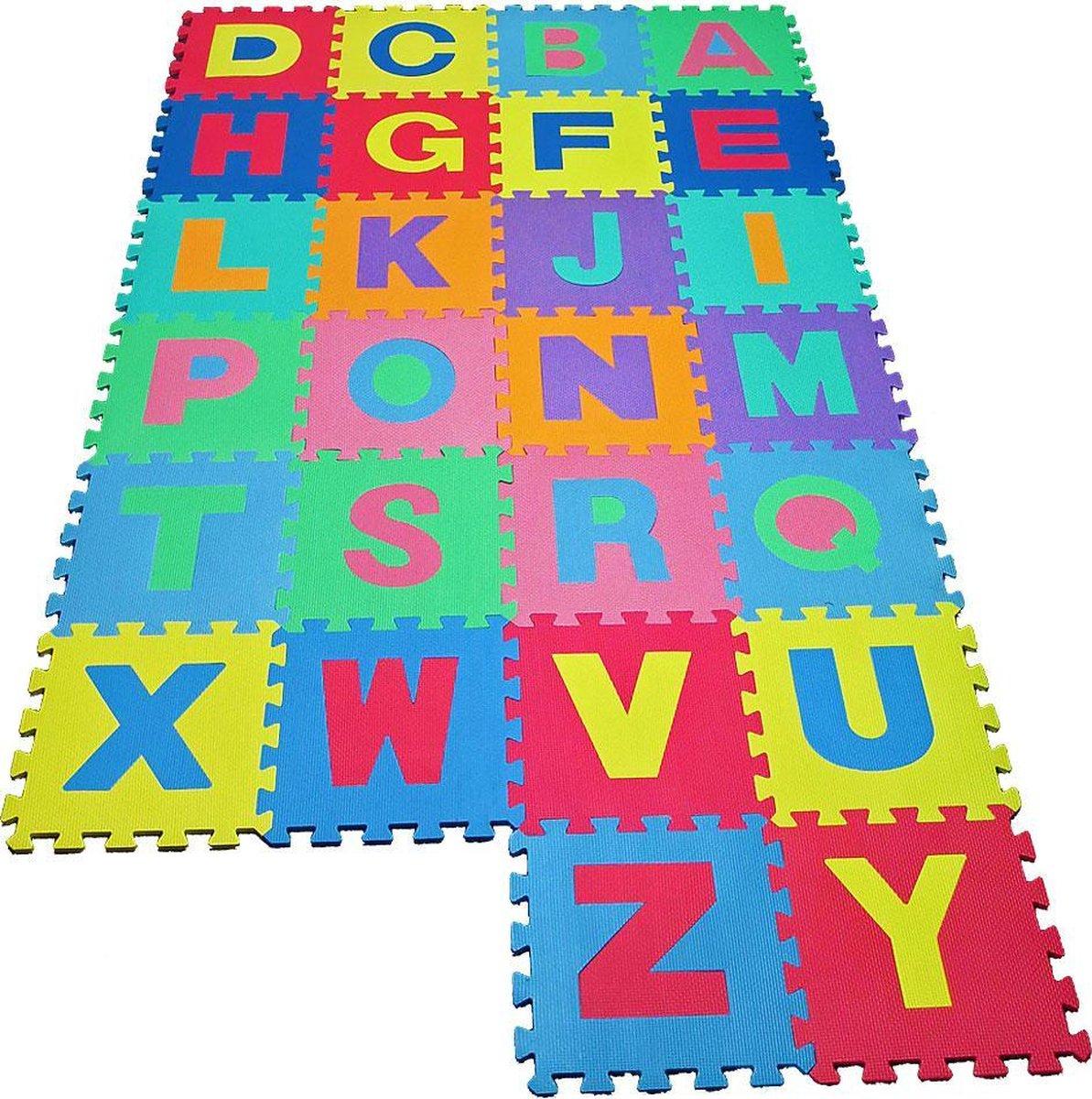 Kiduku - Puzzelmat - speelmat - 36 Foamtegels - Zwembadtegels - 86 delig XXL foam