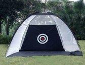 Golftent - Repgoods - 200 x 100 x 140 cm - Zwarte kleur - Indoor - Outdoor - Golfaccessoire - Golfartikel - Golf training - Golf swing - Golf oefenen - Golfnet - Golfdoek