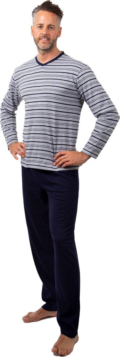 Heren Pyjama Stripes V Hals - Maat L/XL