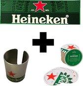 Heineken  Bier Vilthouder, Vilt & Barmat Wandbord Retro Vintage Wand Bord Muur Kamer Decoratie Metaal Emaille Reclame Wandborden Tekst Mancave Metalen Bord Kroeg Bar Cafe