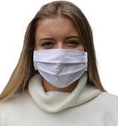 Mondmasker 100% Katoen – Wasbaar – Mondkapjes – Mondkapje – Niet Medisch - Wit - filter toepasbaar