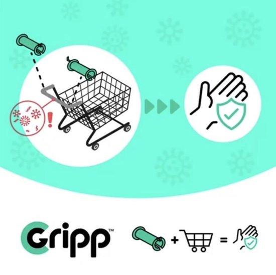 CGripp 1 set handvatten Roze handkapje en geen mondkapje, hygiëne, handhygiëne, preventie, schone handen, duurzaam, herbruikbaar voor 98% van alle winkelwagentjes, -mandjes, deurklink, lift, in het OV, enzovoorts