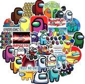 Among us - Among us stickers - 50 stuks - Among us plushie - Among us knuffel - Among us game