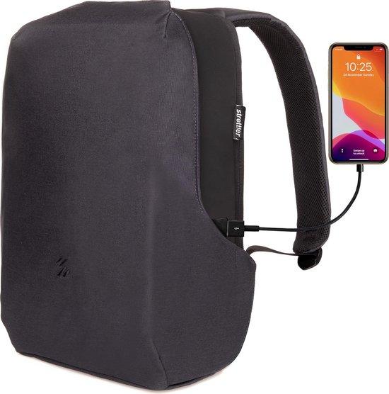 Strettler Volt rugzak met 3.0 USB aansluiting - 15.6 inch laptop- en tablet...