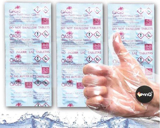 Puritabs Tabletten Voordeelset 3 x 10 tabletten + LevinQ® Handschoenen