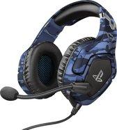 Trust GXT 488-B Forze - Gaming Headset - Official Licensed - Geschikt voor PS4 & PS5 / Camo Blauw