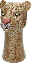 Luipaard Vaas - Vase Leopard Brown - Luipaardprint - 29x16x17cm