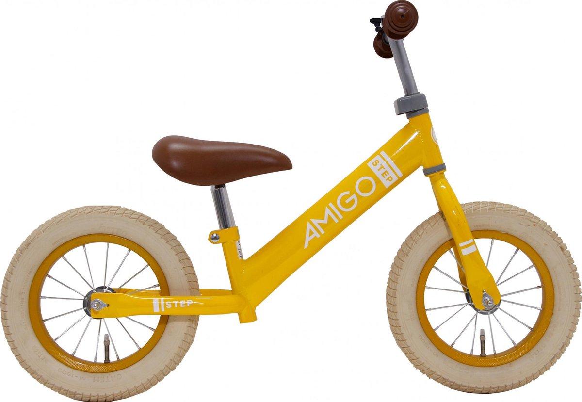 AMIGO Step - Loopfiets 12 inch - Jongens en Meisjes - Geel kopen