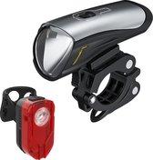 DistinQ LED Fietsverlichting set - Oplaadbare USB Fietslampset - Voorlicht/Achterlicht - StVZO gecertificeerd