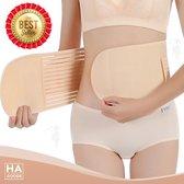 HA Goods Buikband - Zwangerschapsband - Zwangerschap - Sluitlaken - Sluitband - Steunband - Belly Binder - 4-in-1 Functie - Na Zwangerschap - Verstelbaar - Beige