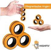 HighFiv® Magnetische Fidget Ringen- Fidget Spinner- stress relief- TikTok- Fidget Toy- Magnetische ringen - Oranje