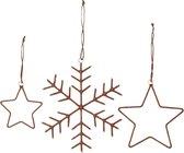 House Doctor ornamenten set van 3