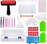 Diamond painting pakket volwassenen en kinderen - accesoires box - roller - sorteerdoos - accessoires opbergdoos - corrector