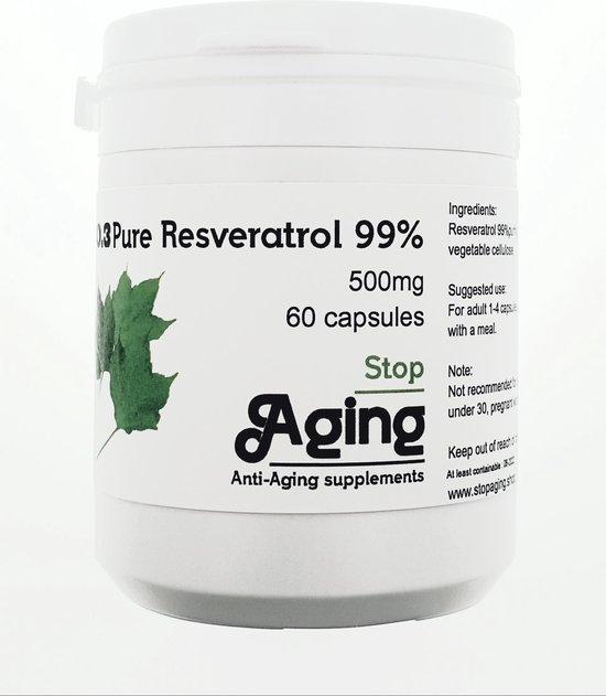Puur Resveratrol 99%, 500mg zonder bijproducten