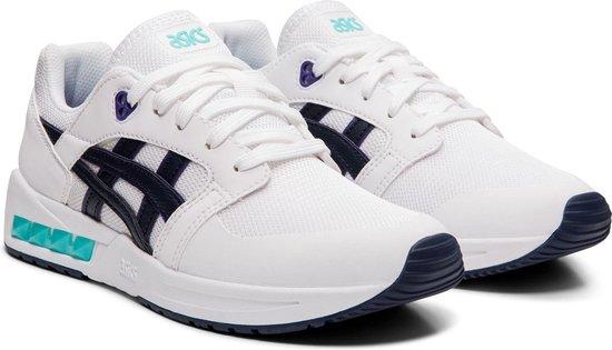 Asics Sneakers - Maat 39.5 - Unisex - wit/blauw/zwart