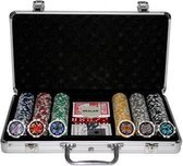 Cadeau - Poker set - 300 chips in luxe aluminium koffer