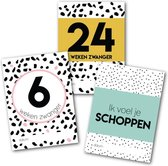 Mijlpaalkaarten zwangerschap - zwanger - milestone baby cards - cadeautje zwangerschap - Studio Ins & Outs