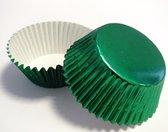 Cupcake Cups PME Metalllic Groen 30 stuks