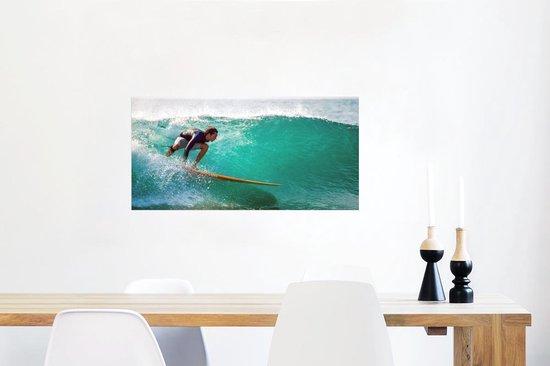 Poster - Surfen op golfen - 80x40 cm