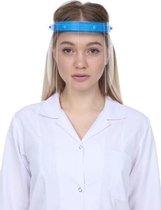 Afbeelding van Face shield met spatscherm en 2 extra schermen - Blauw