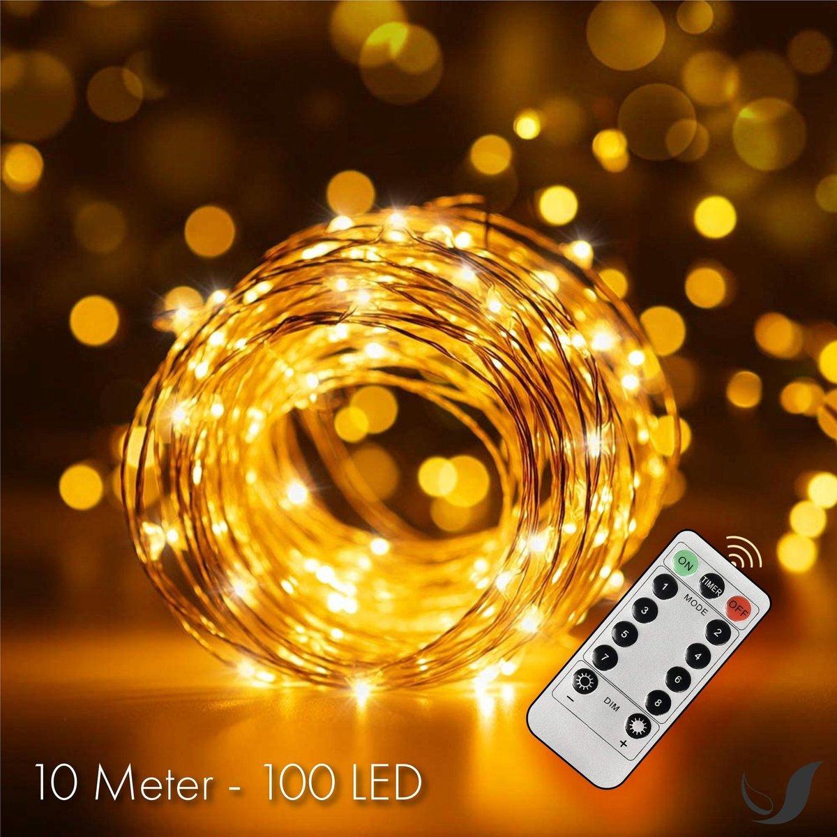 Soothe LED Lichtsnoer Binnen en Buiten Op Batterijen   10 meter - Sfeerverlichting   Met Afstandsbed