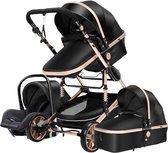 Baby Pro Max® Luxe Baby Buggy 3 in 1 | Baby Wagen | Kinderwagen met stoel en...
