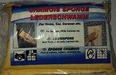 Echte leder spons LederSchwamm voor thuis, auto, caravan etc....