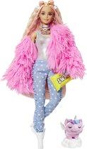 Barbie Extra Pop 1 Roze Donzige Jas - Modepop