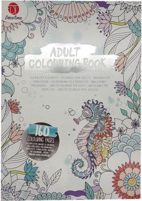 Afbeelding van Adult Colouring Book - Deco Time - Kleurboek Voor Volwassenen - 160 Pagina's - Zilver