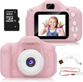 Digitale kindercamera roze / met videofunctie / incl. Kingston 16GB MicroSD kaart